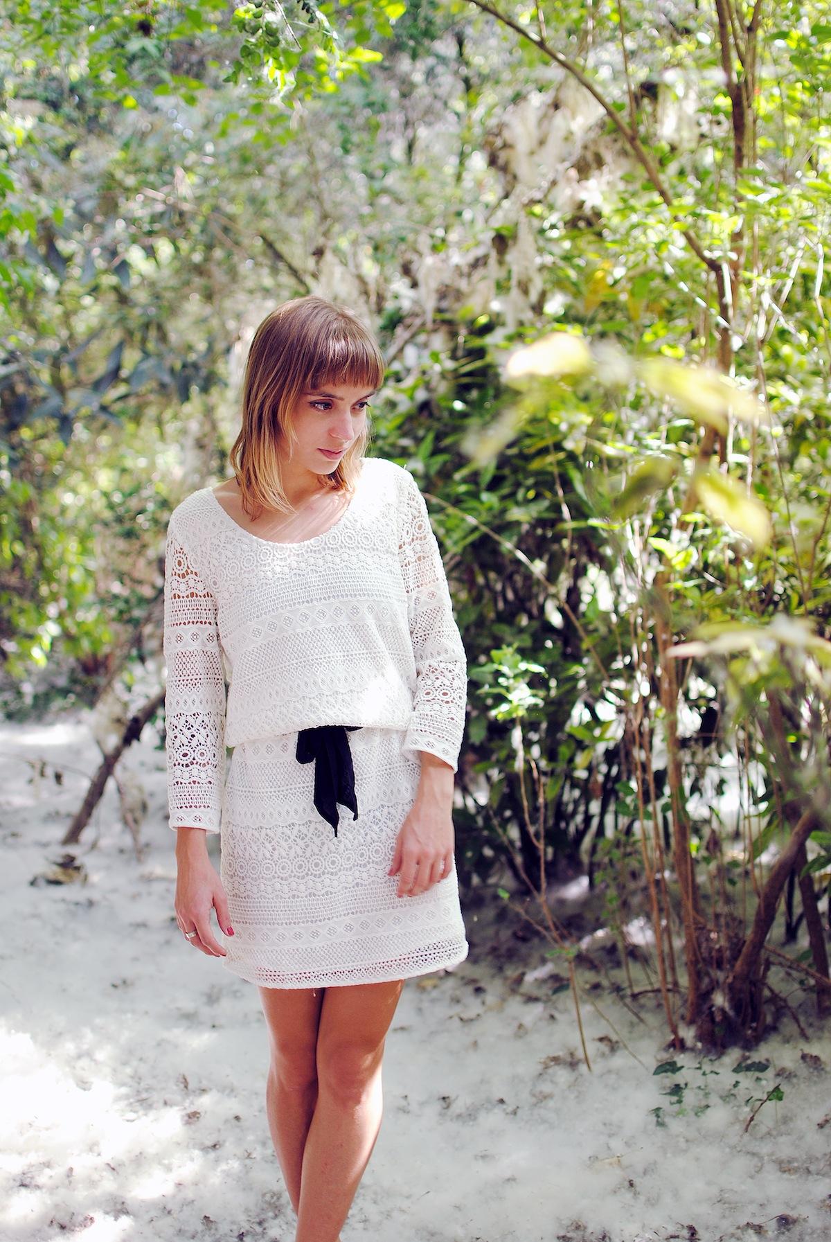 blog mode paris look robe dentelle sud express