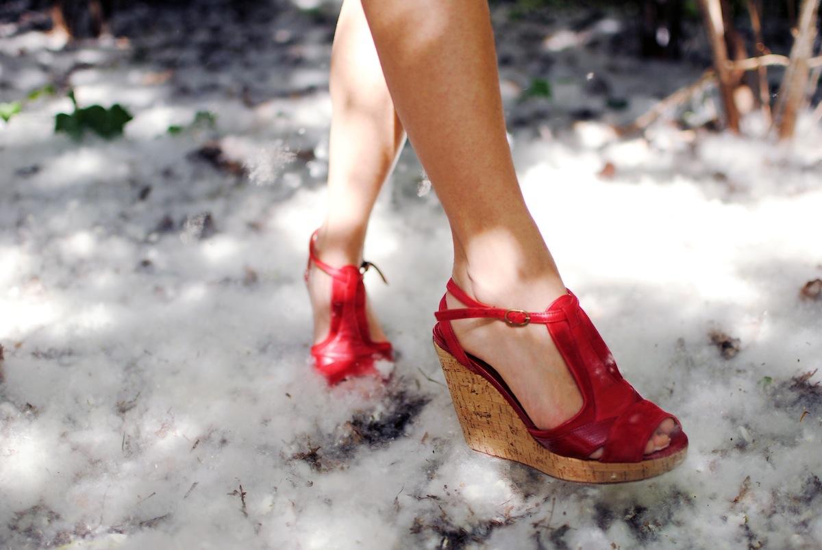 blog mode paris look sandale rouge