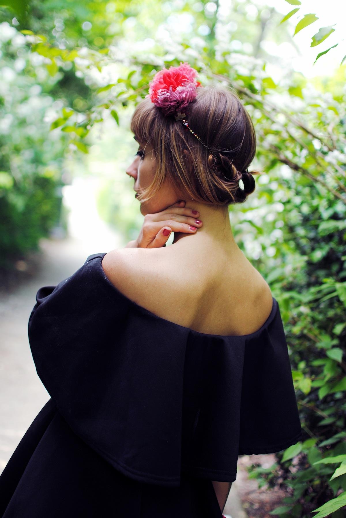Blog mode look couronne de fleur