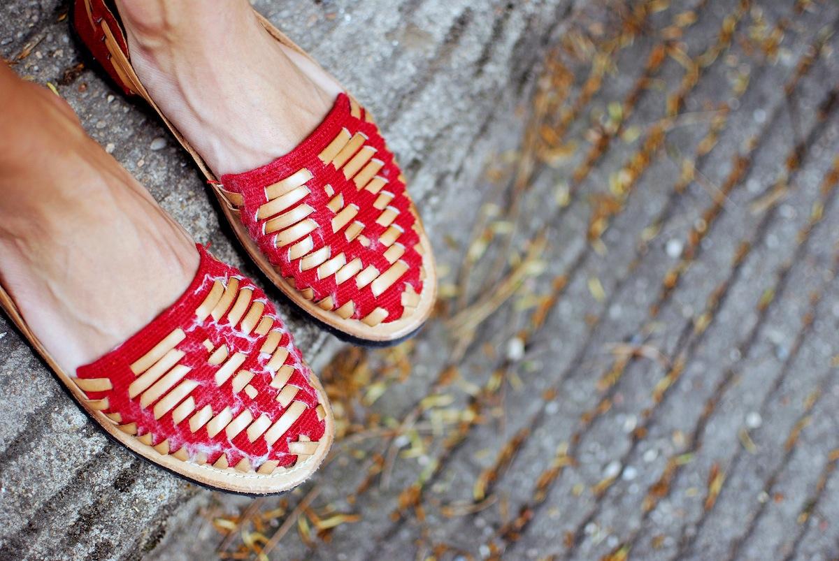 Blog mode look sandale tressée