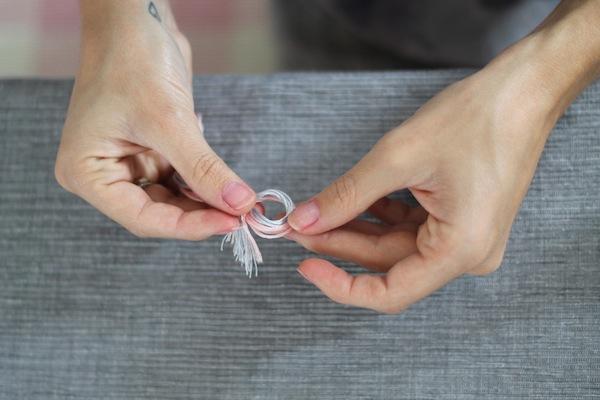 diy bracelet tressé fil de coton