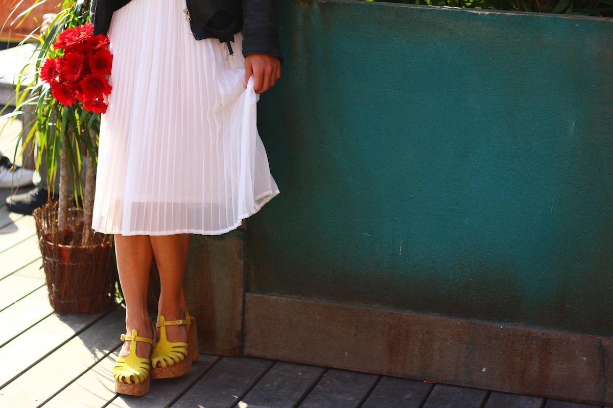 look sandale jaune