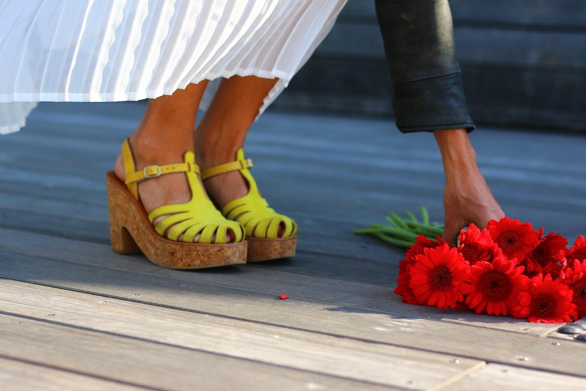 sandale jaune melissa kjacques