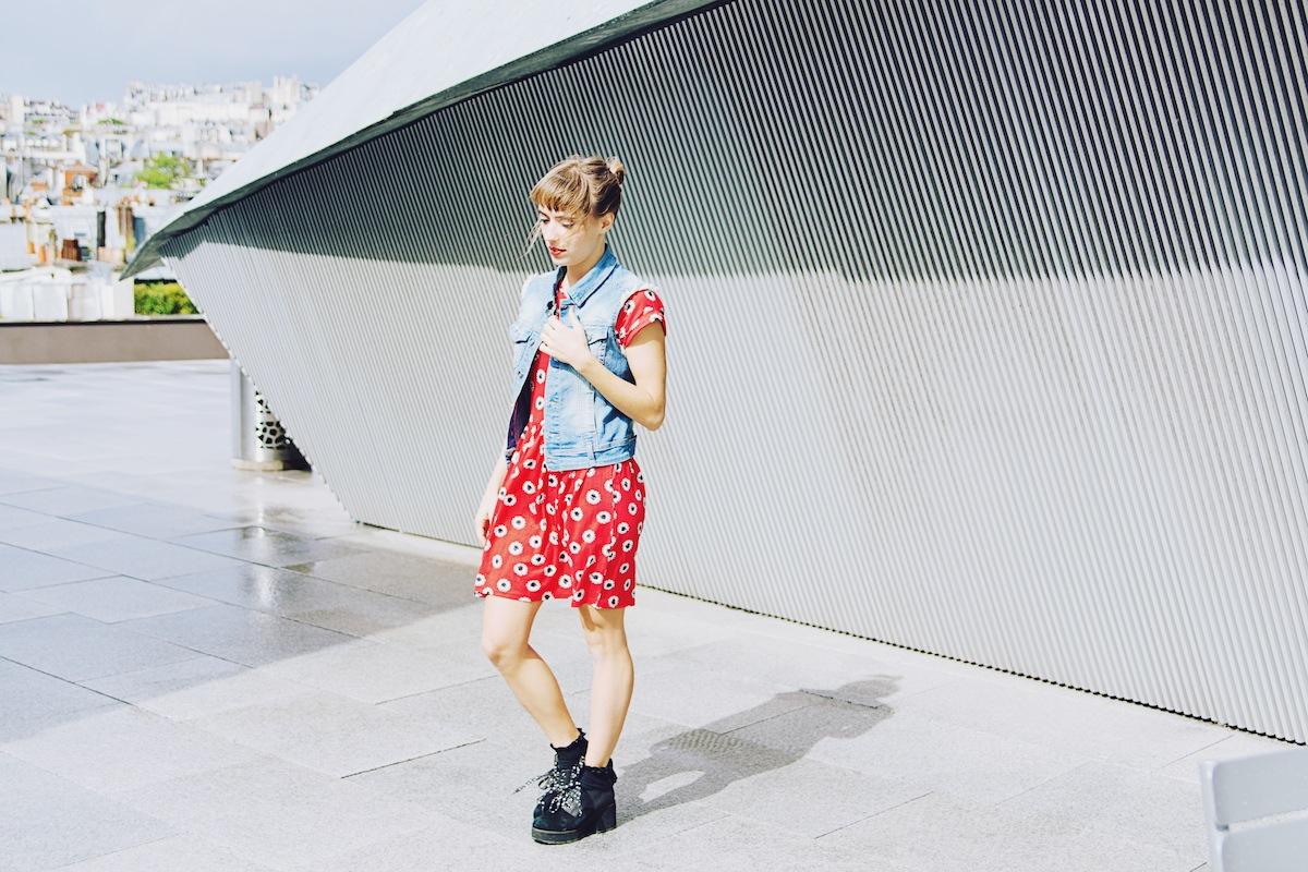 blog mode paris robe rouge a fleurs