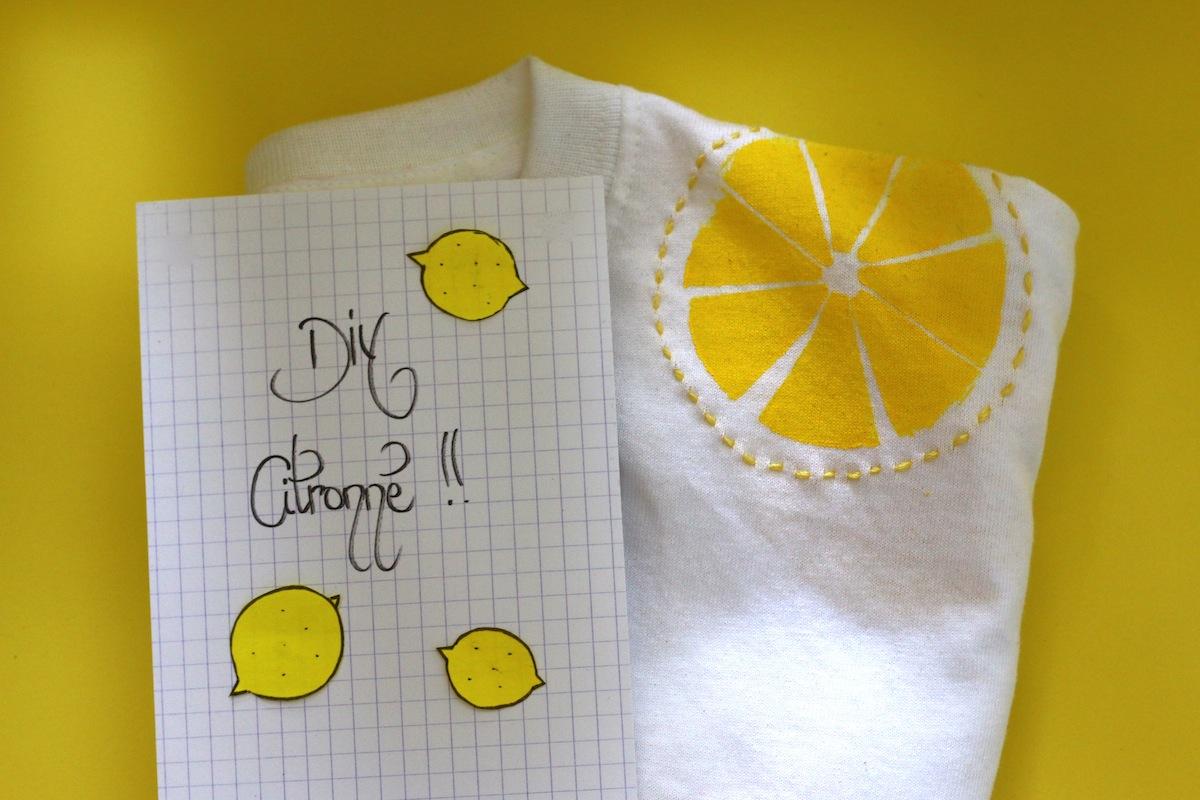 DIY #18 Le crop top à petits citrons