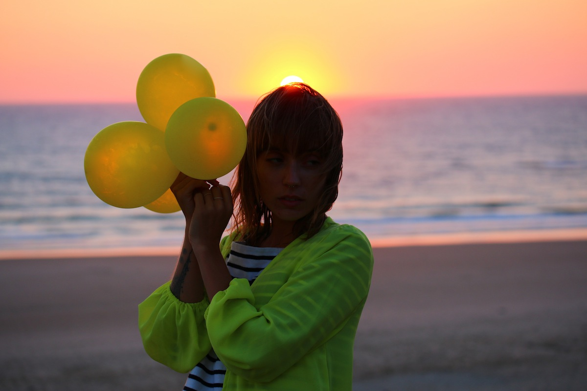 Sunset in Biscawai & ballon