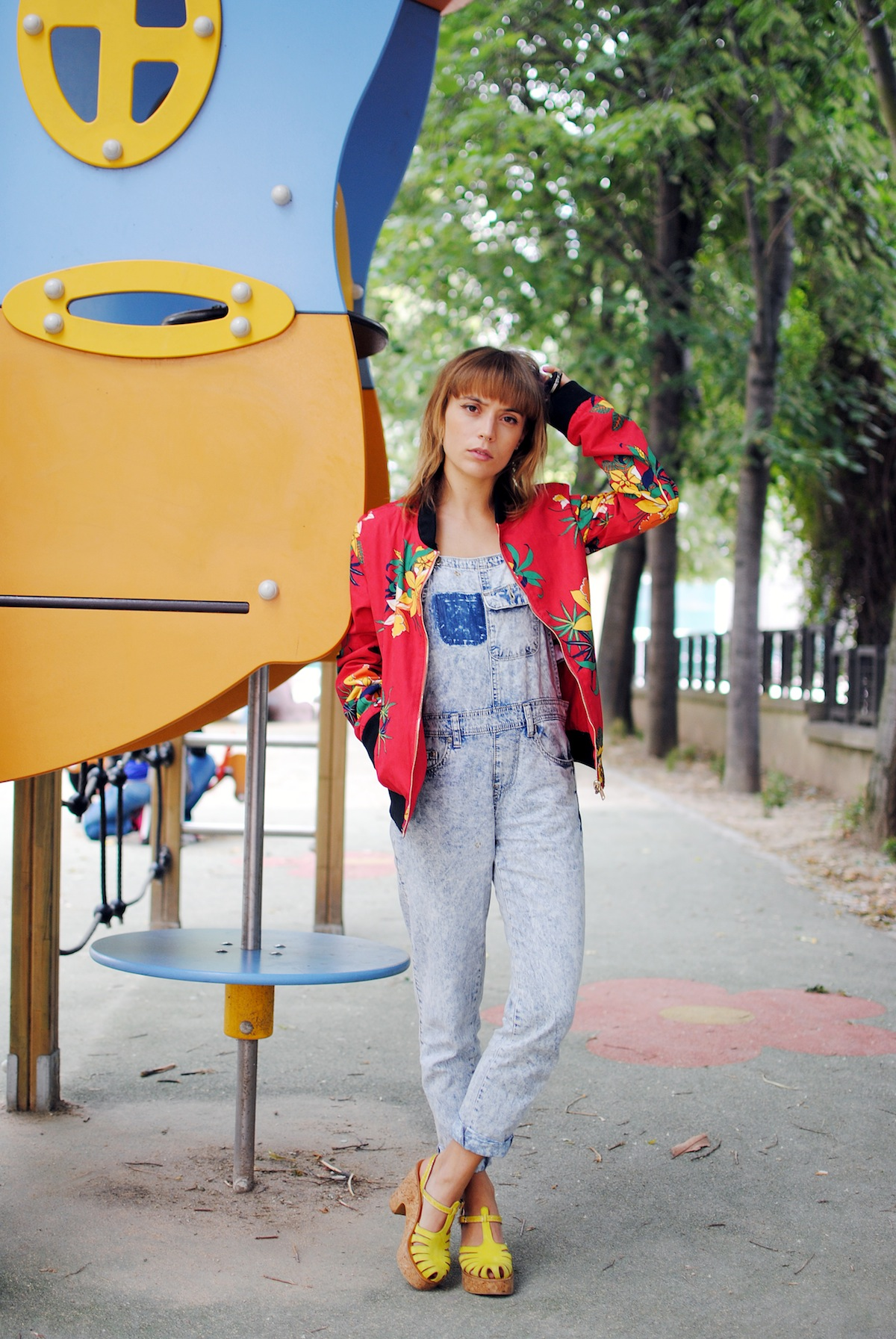 blog mode paris look blouson teddy tropical
