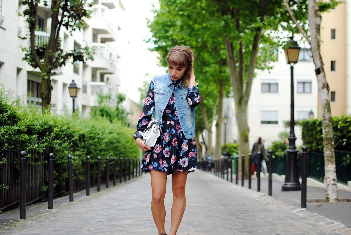 blog mode paris look combi à fleurs