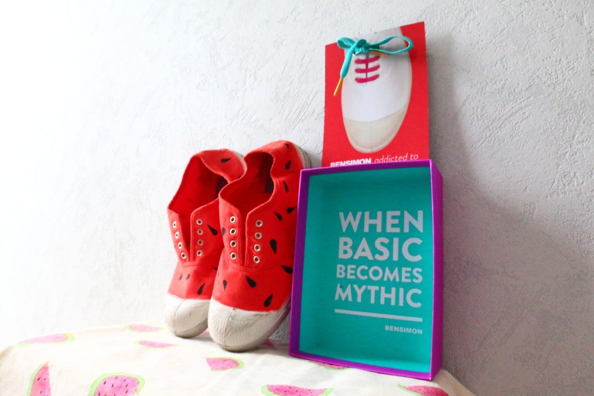 diy chaussure pasteque