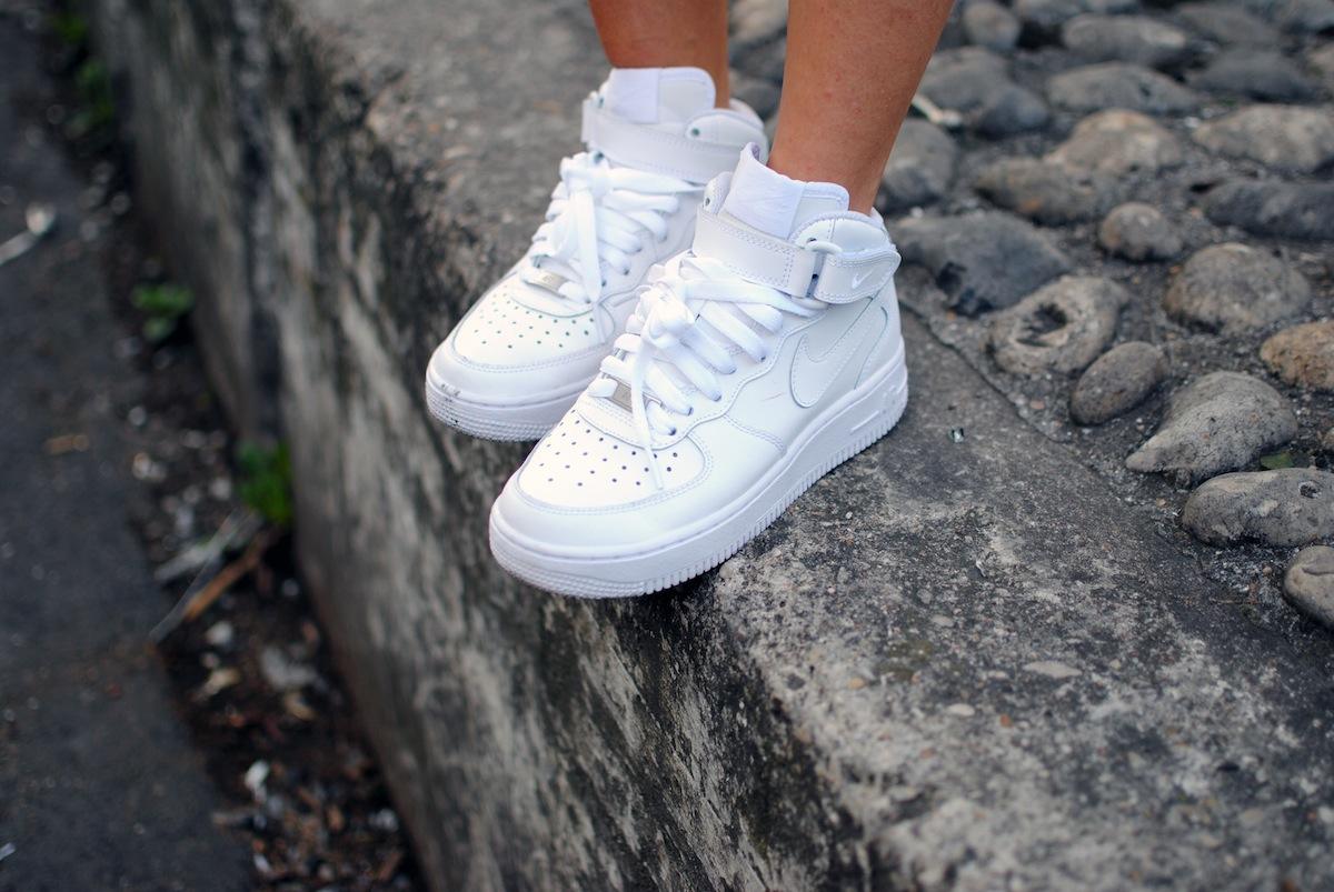 look air force nike blanche haute