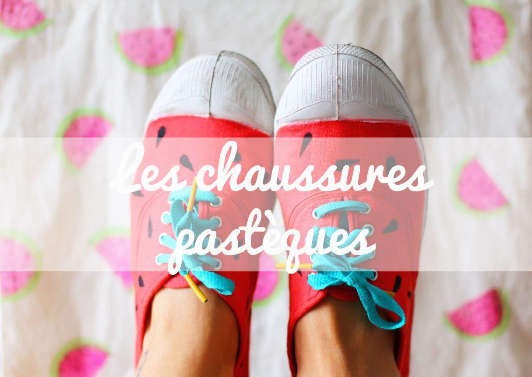 DIY #17 Les chaussures pastèque