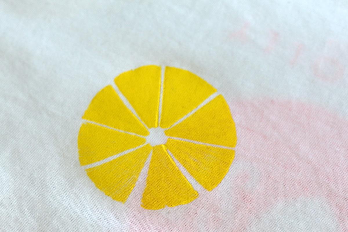 tuto imprimé citron