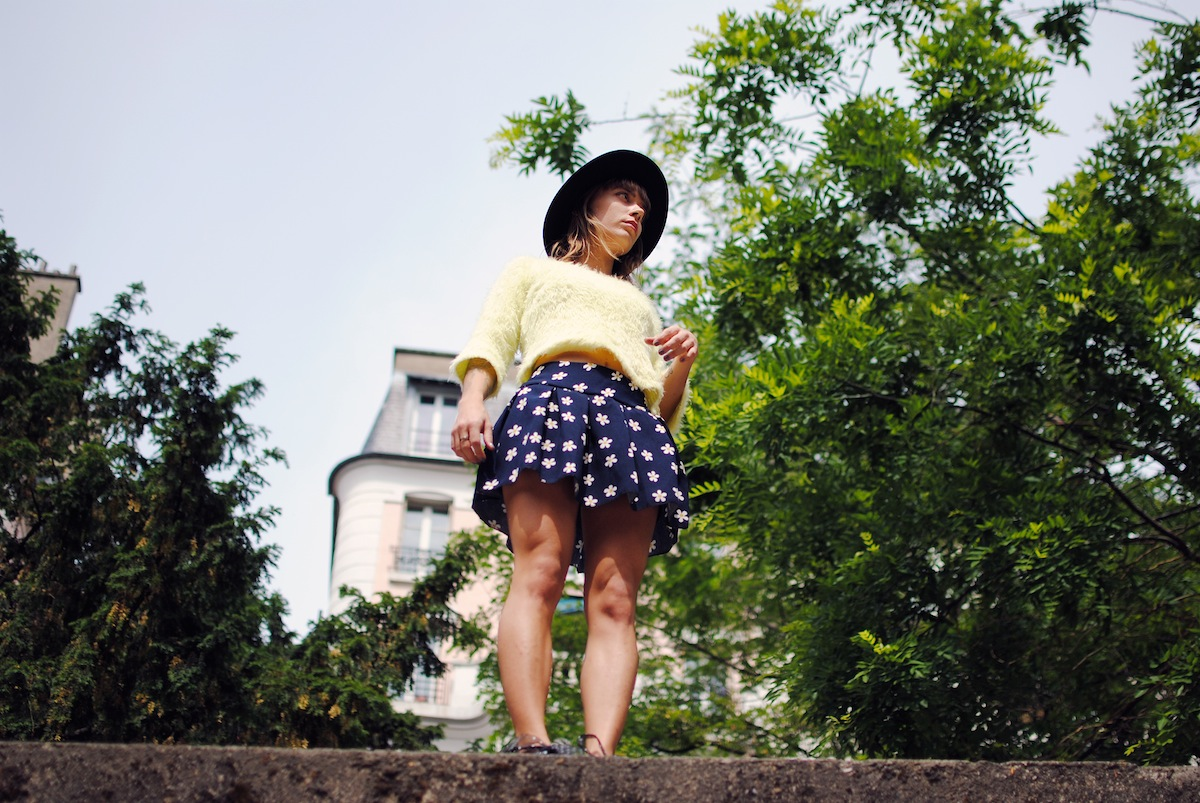 Blog mode paris Look jupe fleurs daisy
