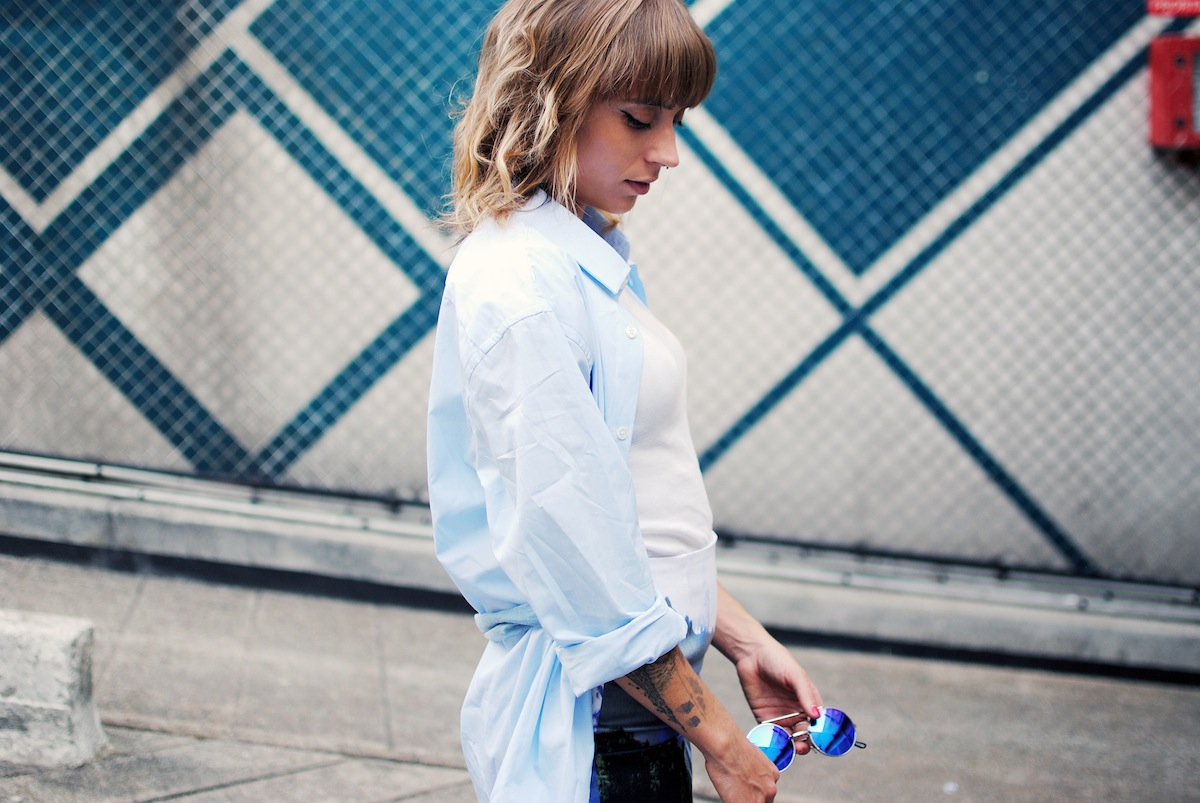 blog mode paris look chemise d'homme