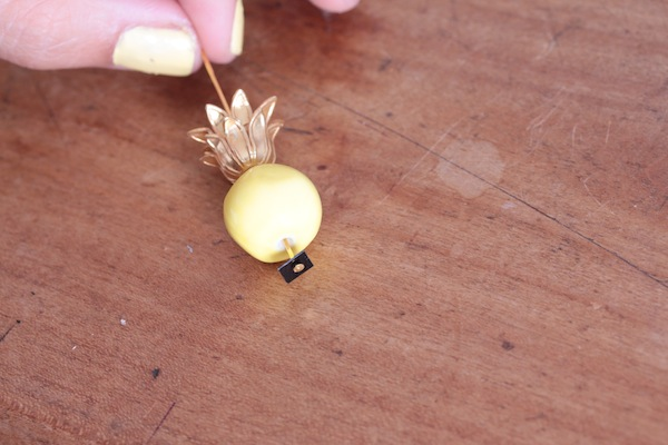 diy bijou boucle doreille ananas