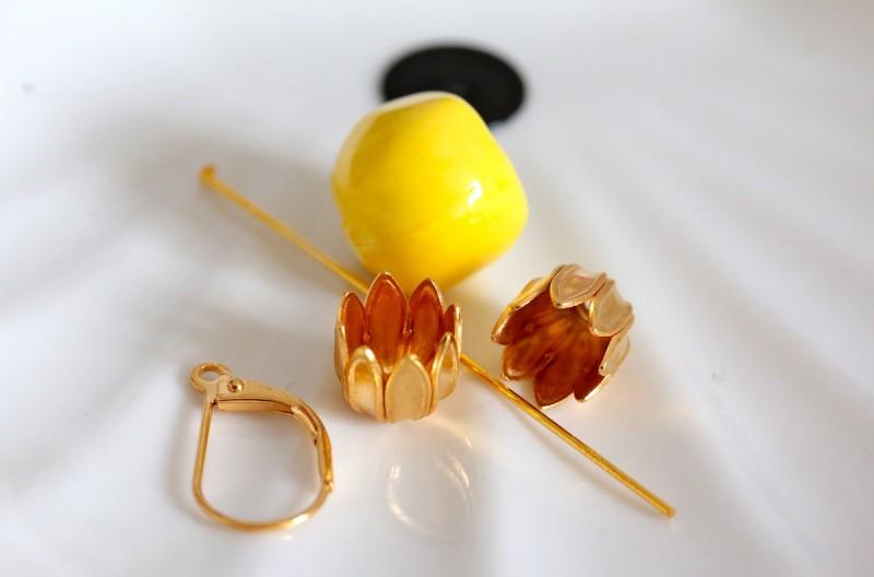 Diy boucle d 39 oreille ananas sp4nk blog - Boucle d oreille diy ...