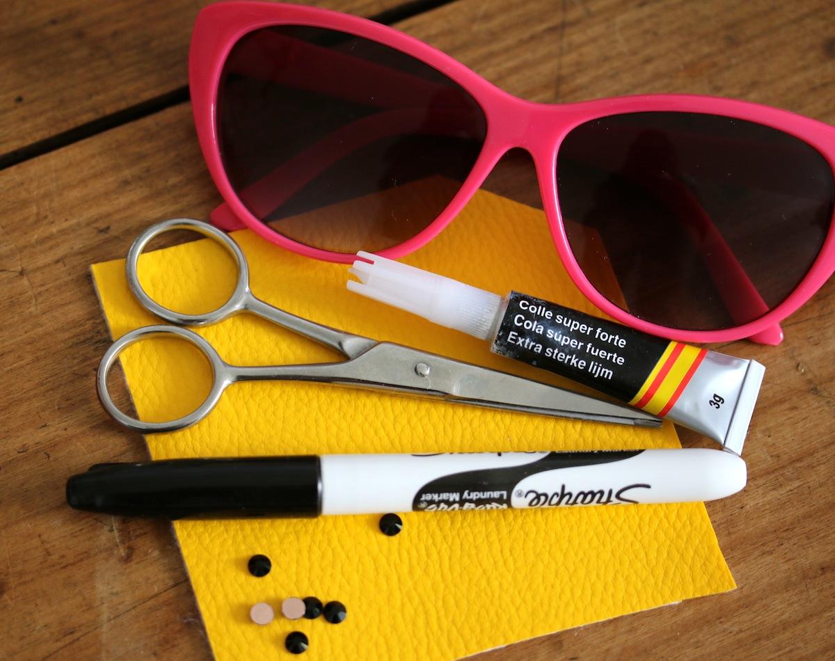 diy lunettes de soleil banane le matériel