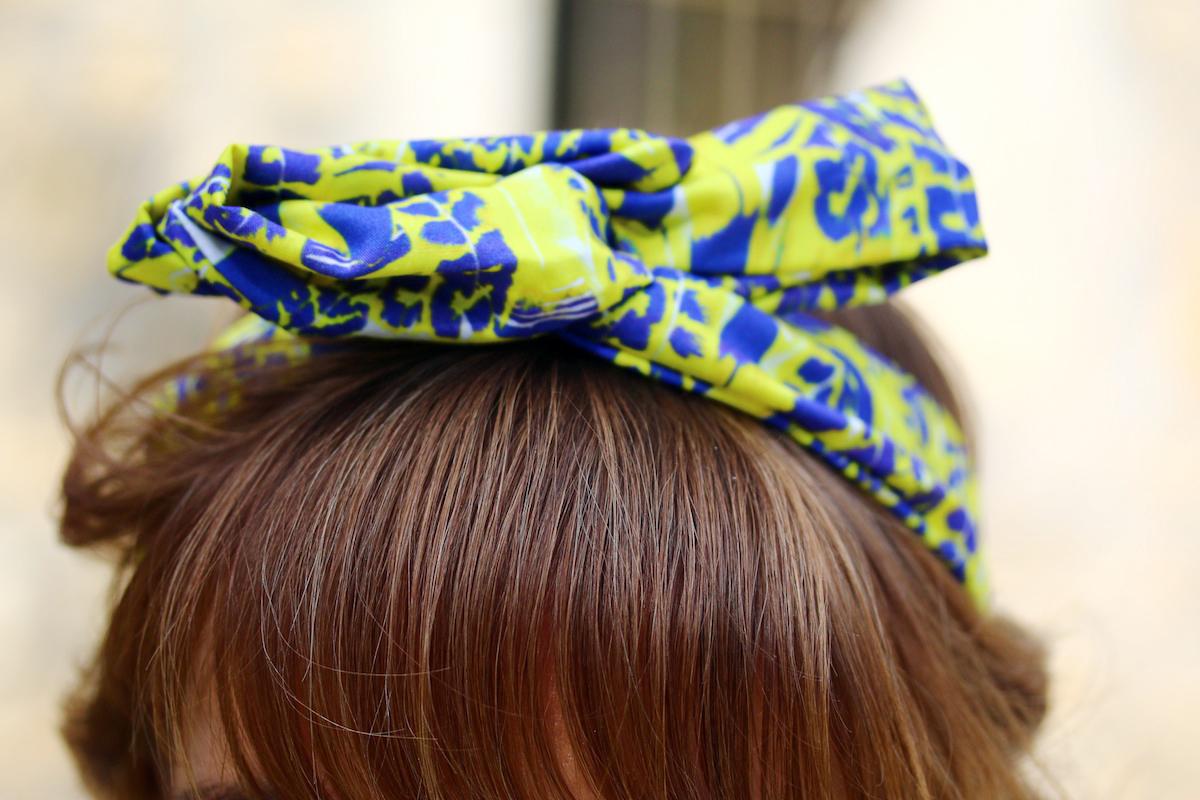 headband hellowooly jaune et violet