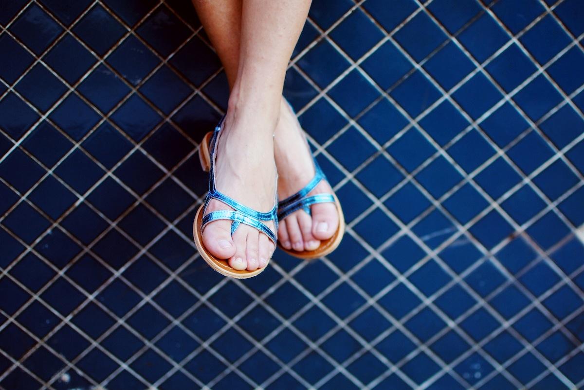 look sandales tropézienne