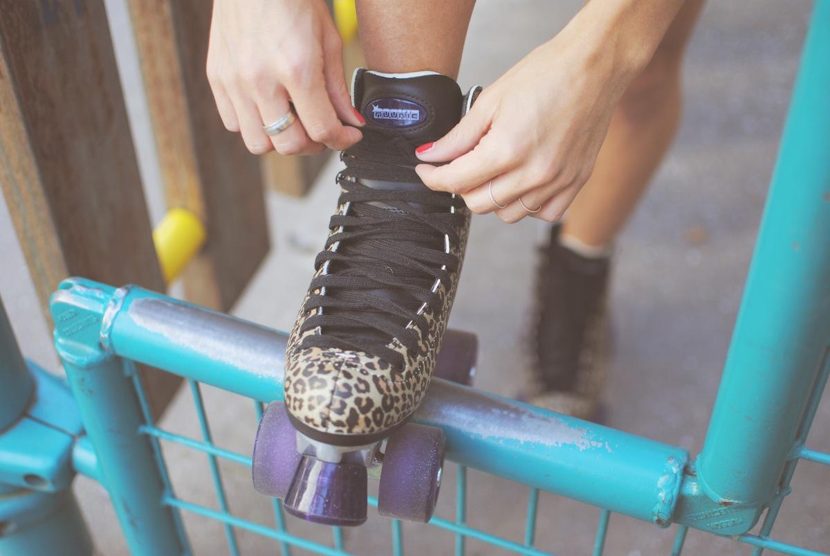 patin à roulettes leopard rookie