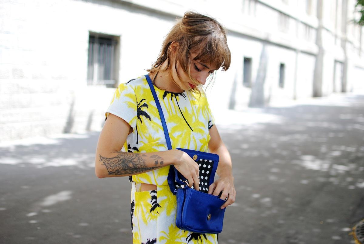 pochette bleue look bobby & luisa