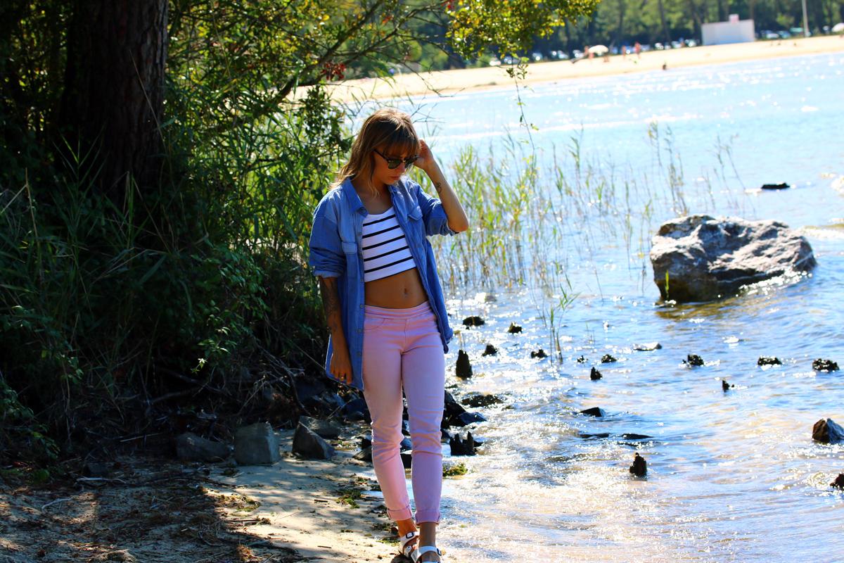 blog mode paris look mariniere et slim rose