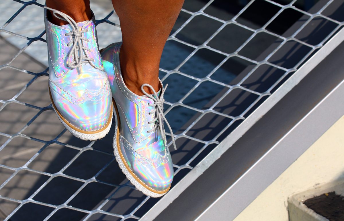 chaussures argentees holo
