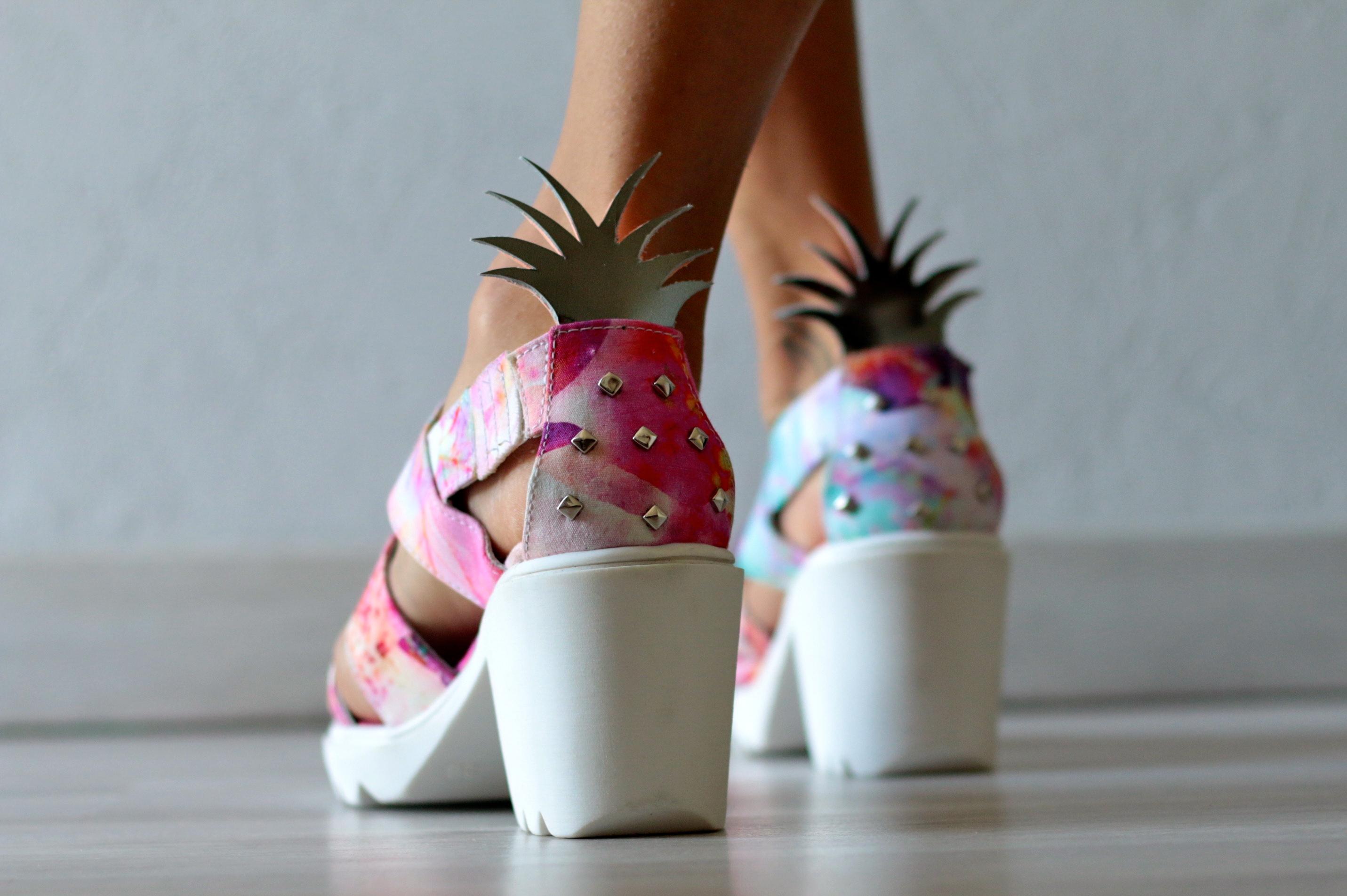 diy sandales ananas