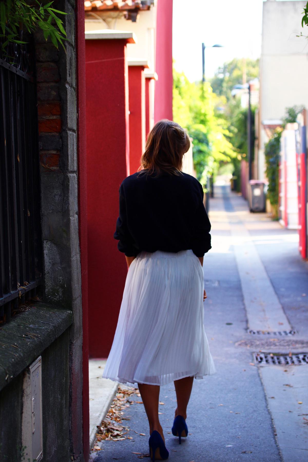 look jupe midi blanche