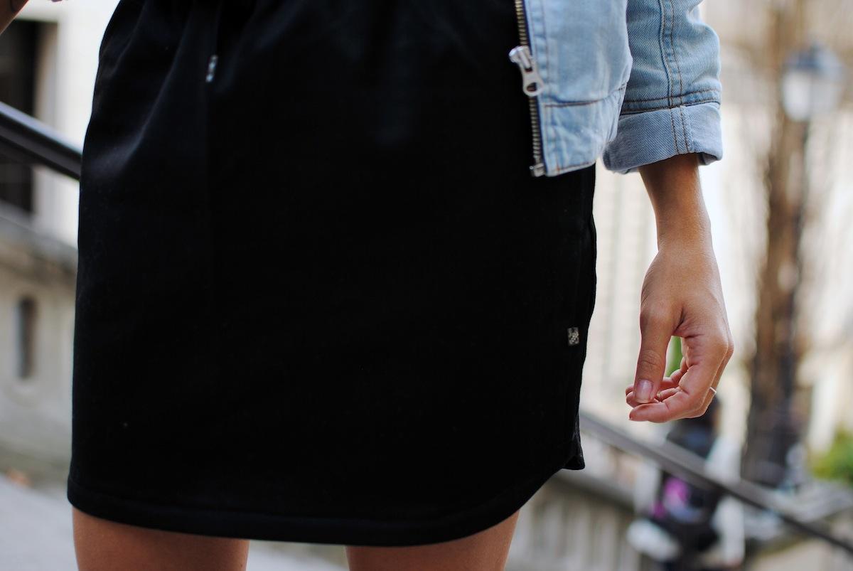 blog mode paris look jupe noire ikks