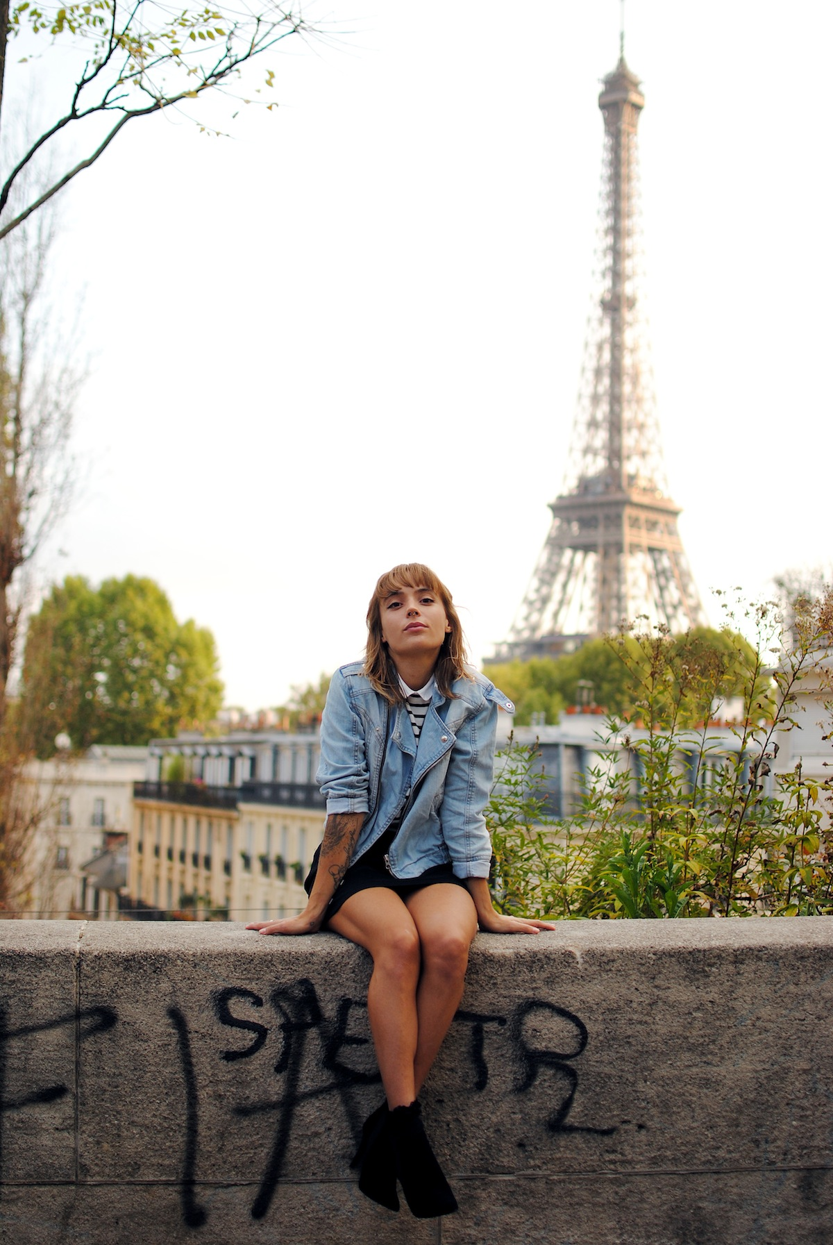 blog mode paris look perfecto en jean et mariniere