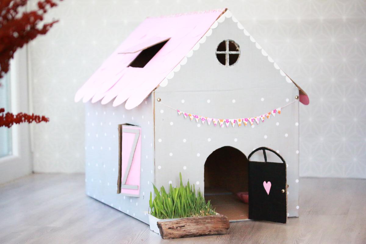 diy maison de poupée pour chat