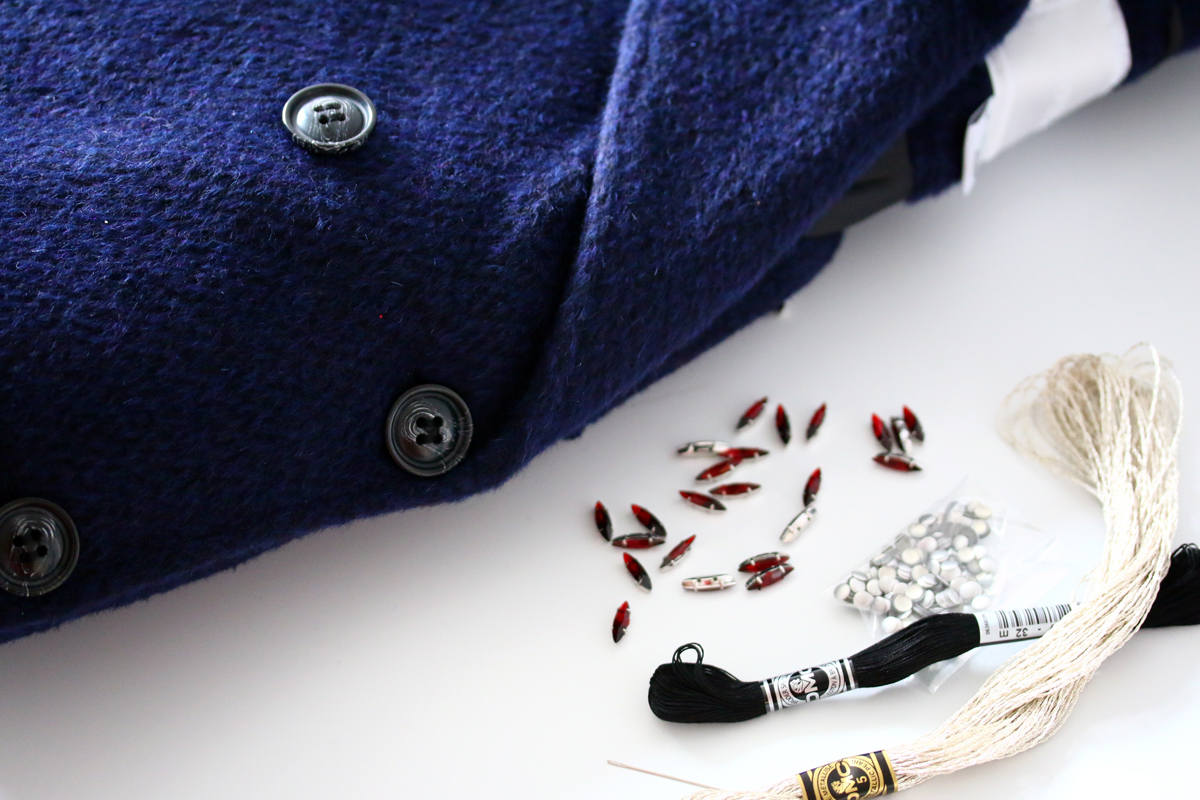 diy manteau à fleches carven like