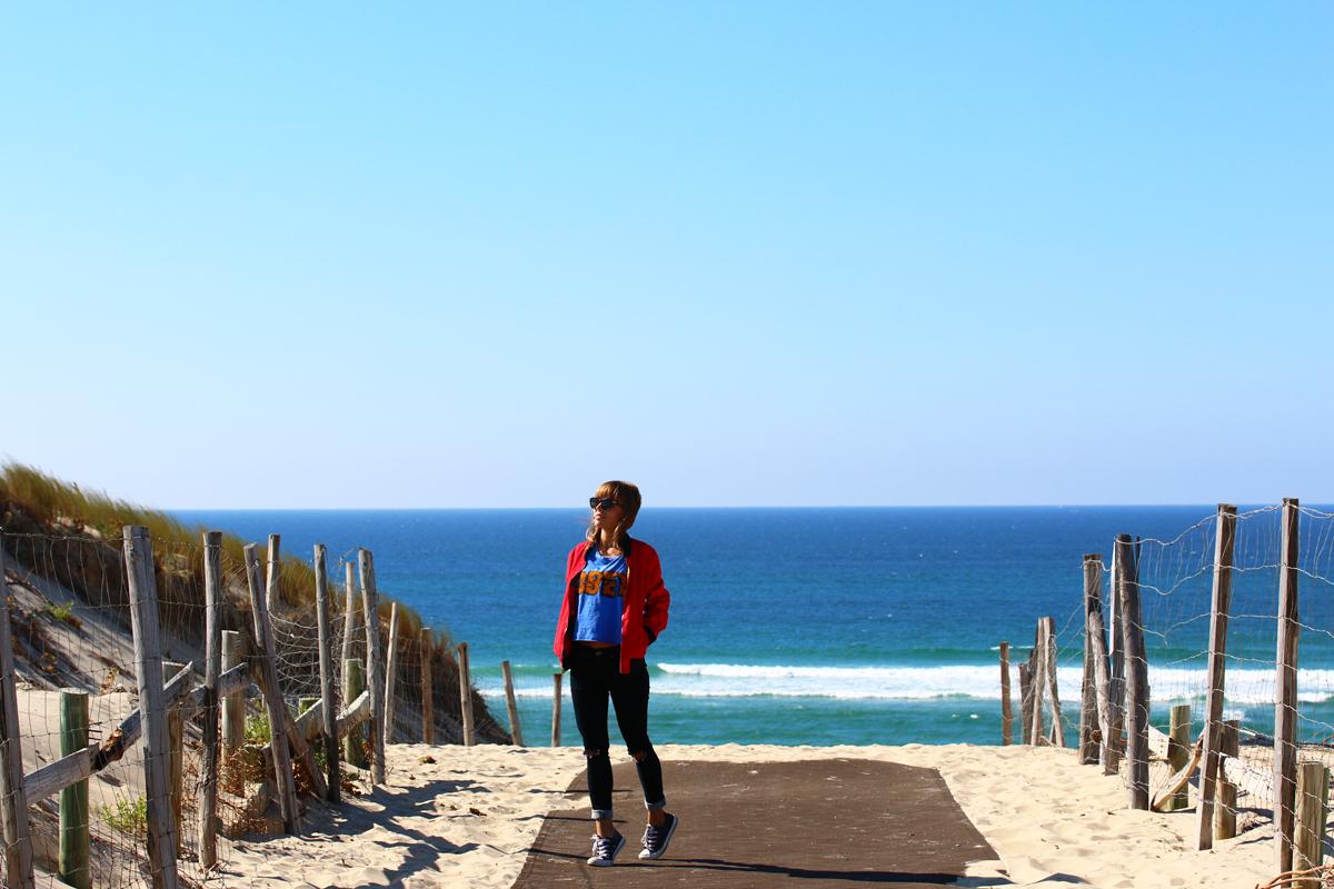look casual bord de plage biscarrosse