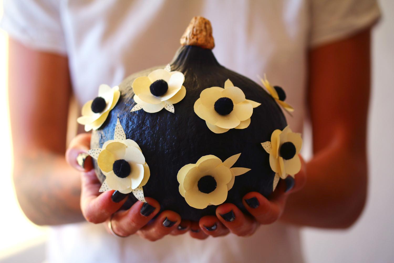 potimarron à fleurs diy