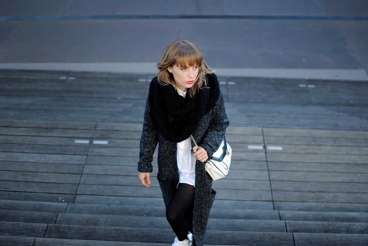 Blog mode paris Look snood noir et chemise
