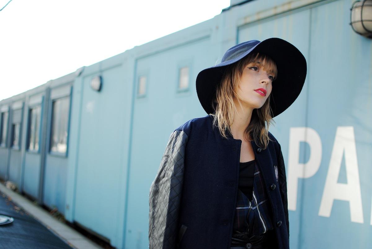 Blog mode paris look fedora bleu
