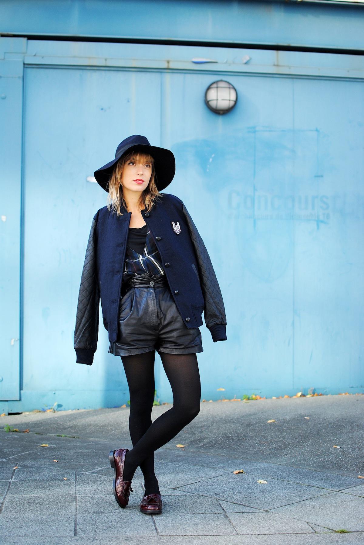 Blog mode paris look teddy et short en cuir