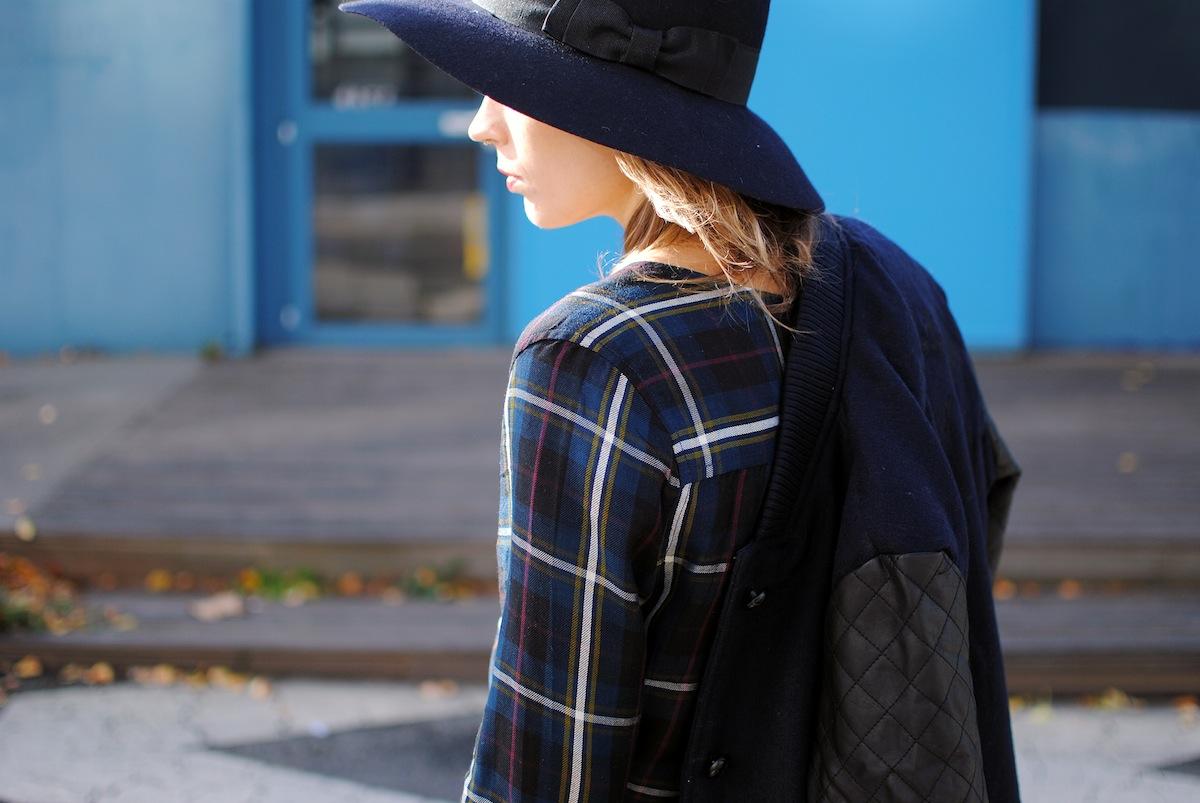 Blog mode paris look top tartan bleu