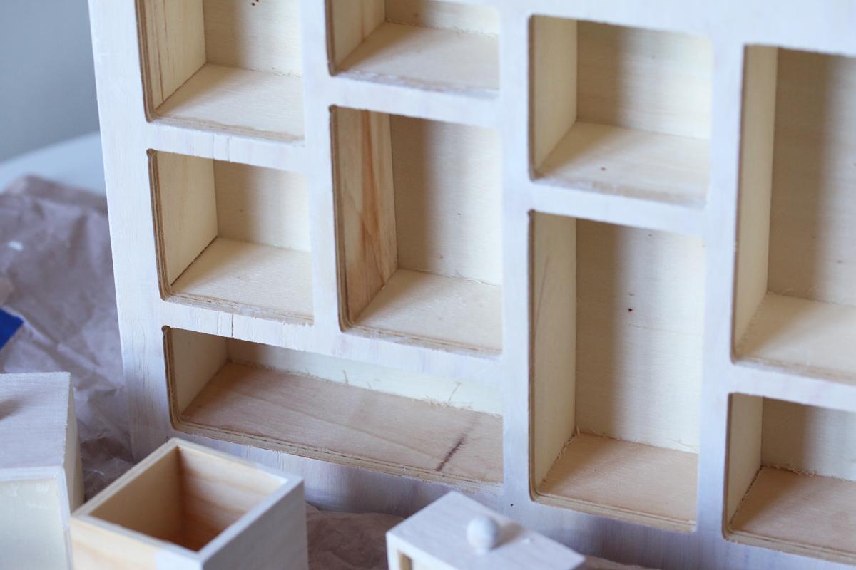 Diy calendrier de l'avent maison en bois etape 2