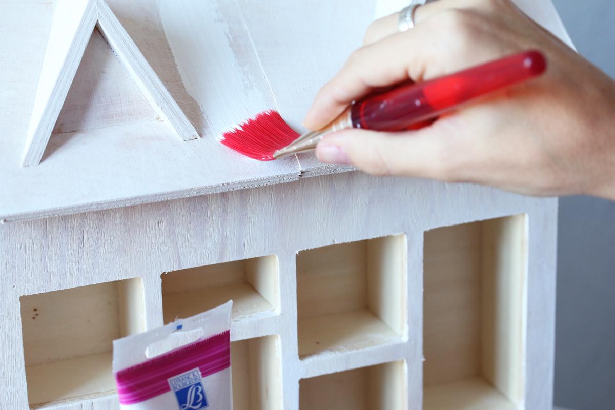 Diy calendrier de l 39 avent maison en bois etape 3 sp4nk blog - Calendrier maison de l avent ...