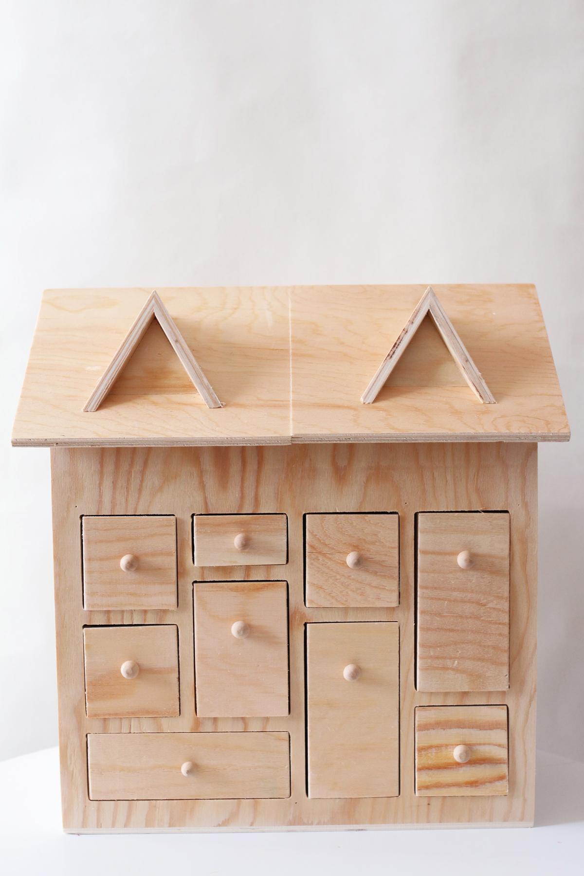 Diy calendrier de l'avent maison en bois matériel