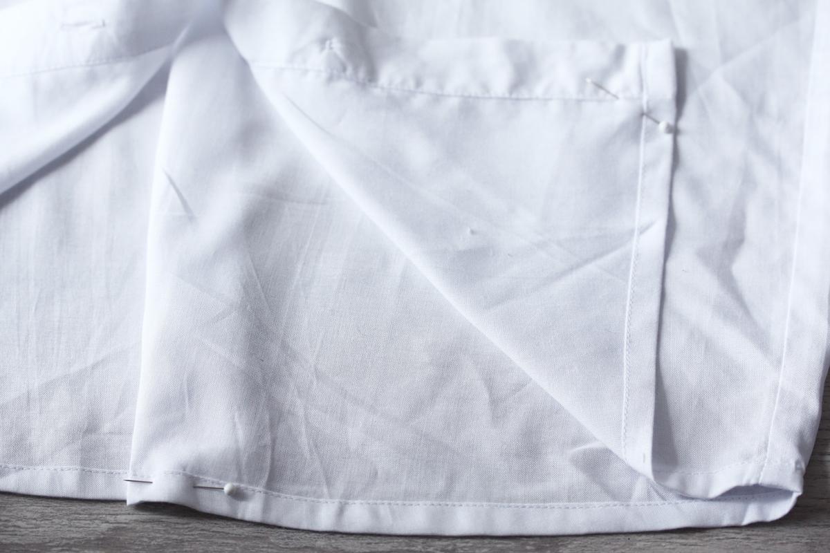 Etape 4 transformer sa chemise en robe