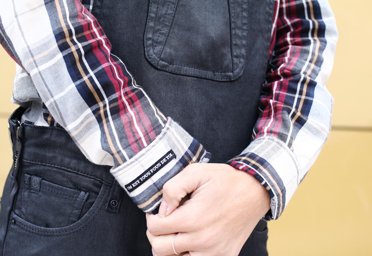 chemise tartan look