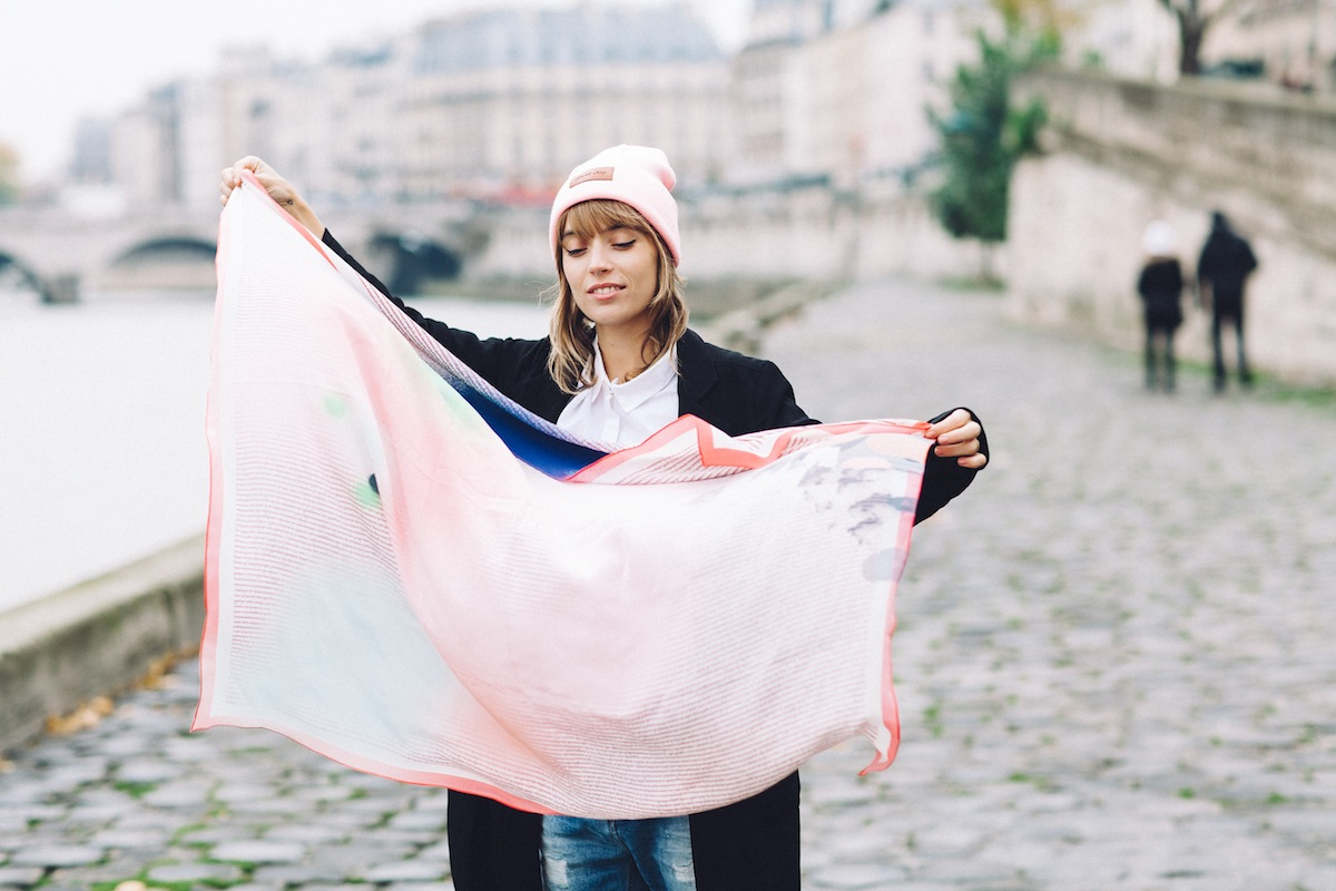 blog mode paris look bonnet rose