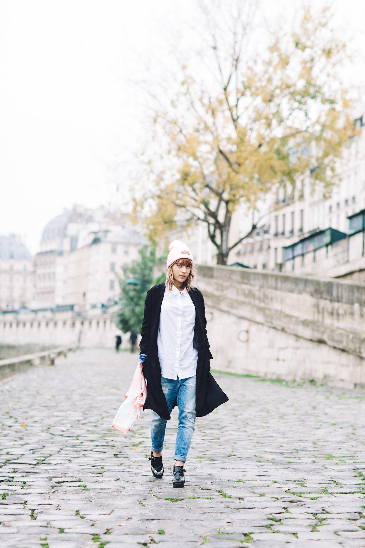 blog mode paris look jean boyfriend et chemise blanche