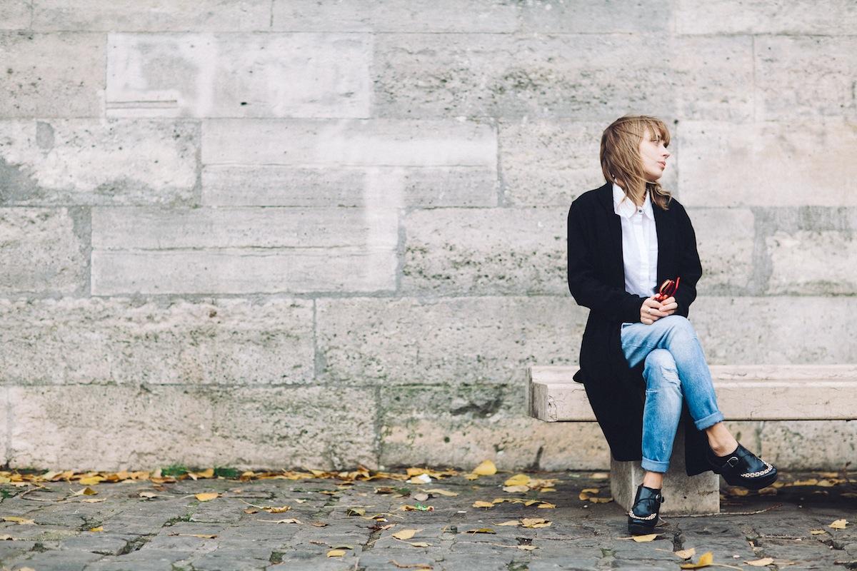 blog mode paris look jean boyfriend et creepers compensées