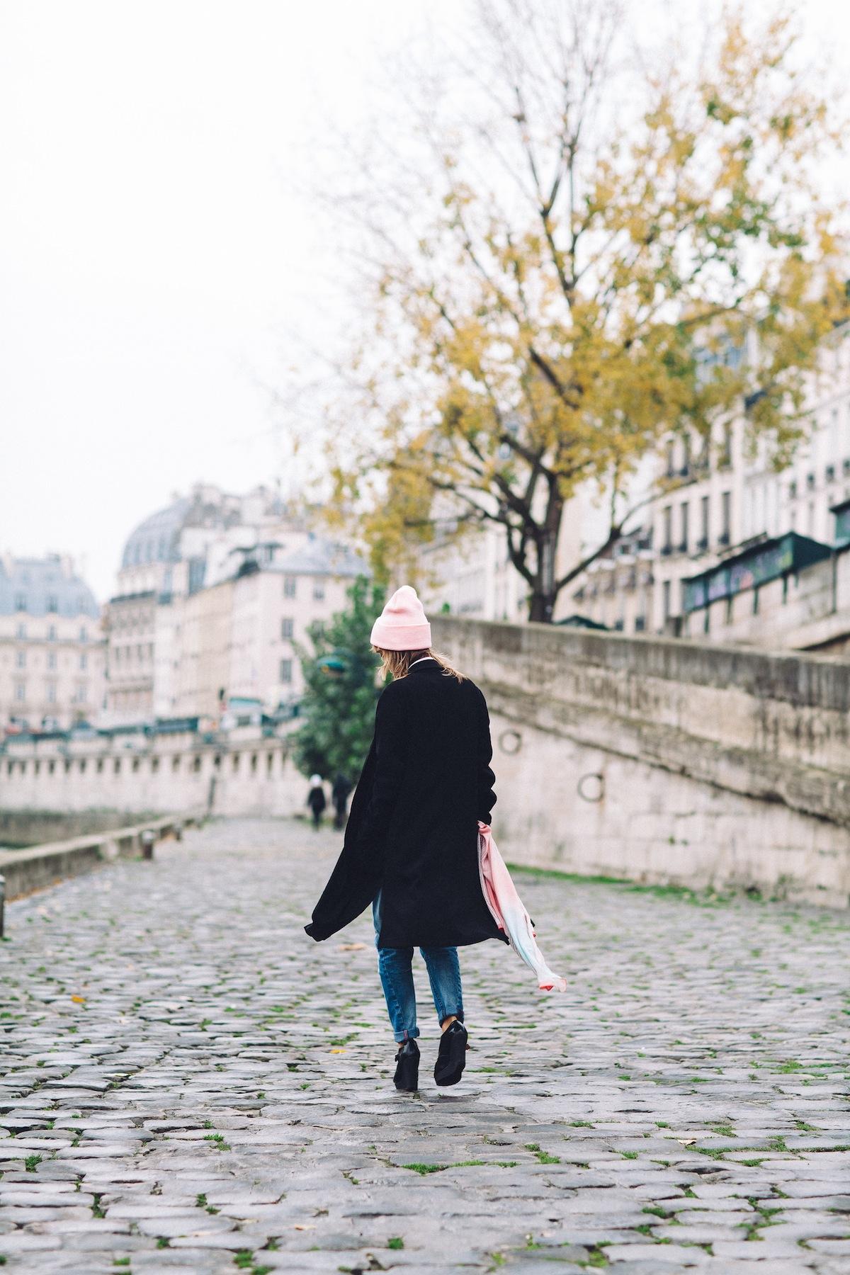 blog mode paris look jean boyfriend et veste longue