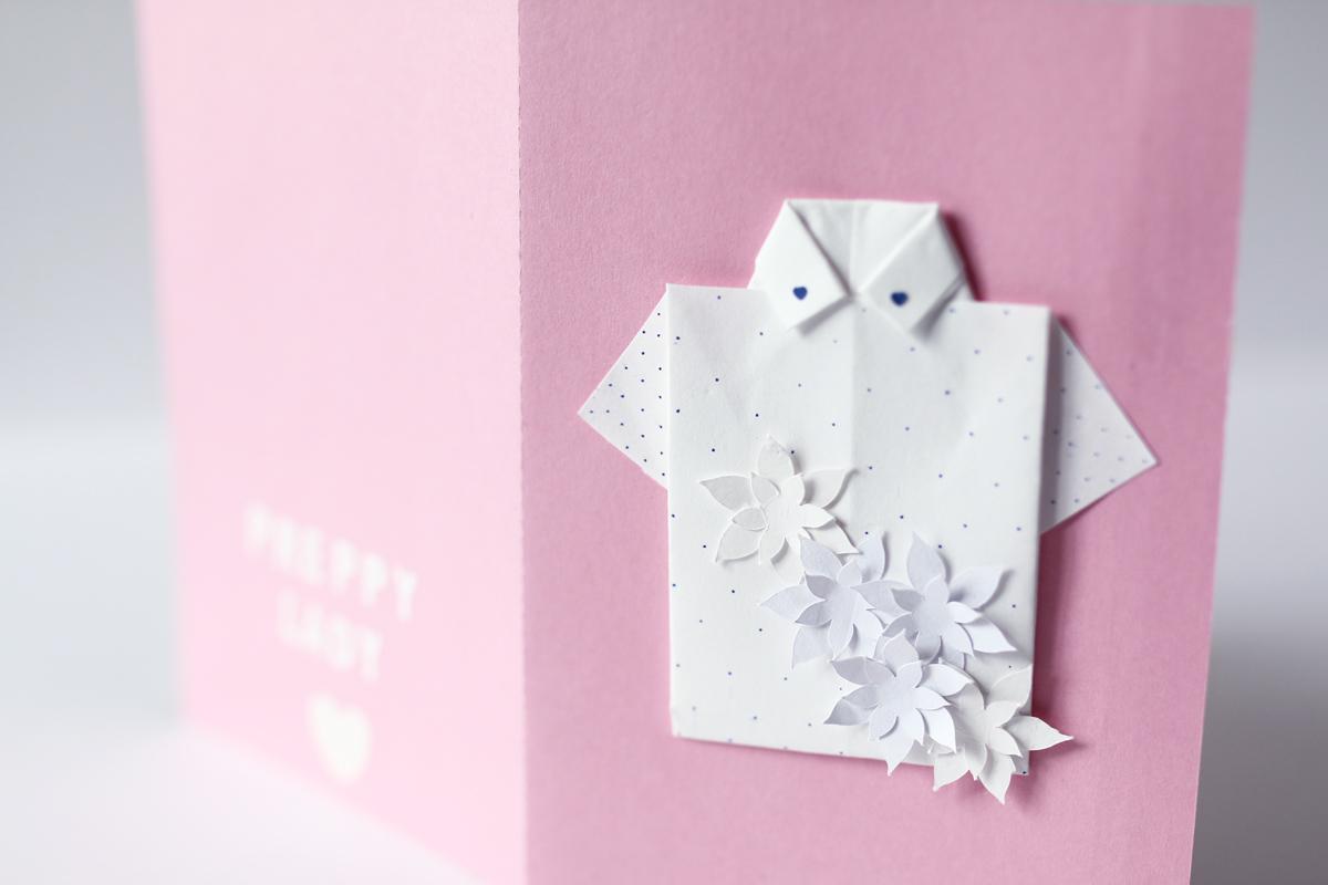 Carte chemise origami