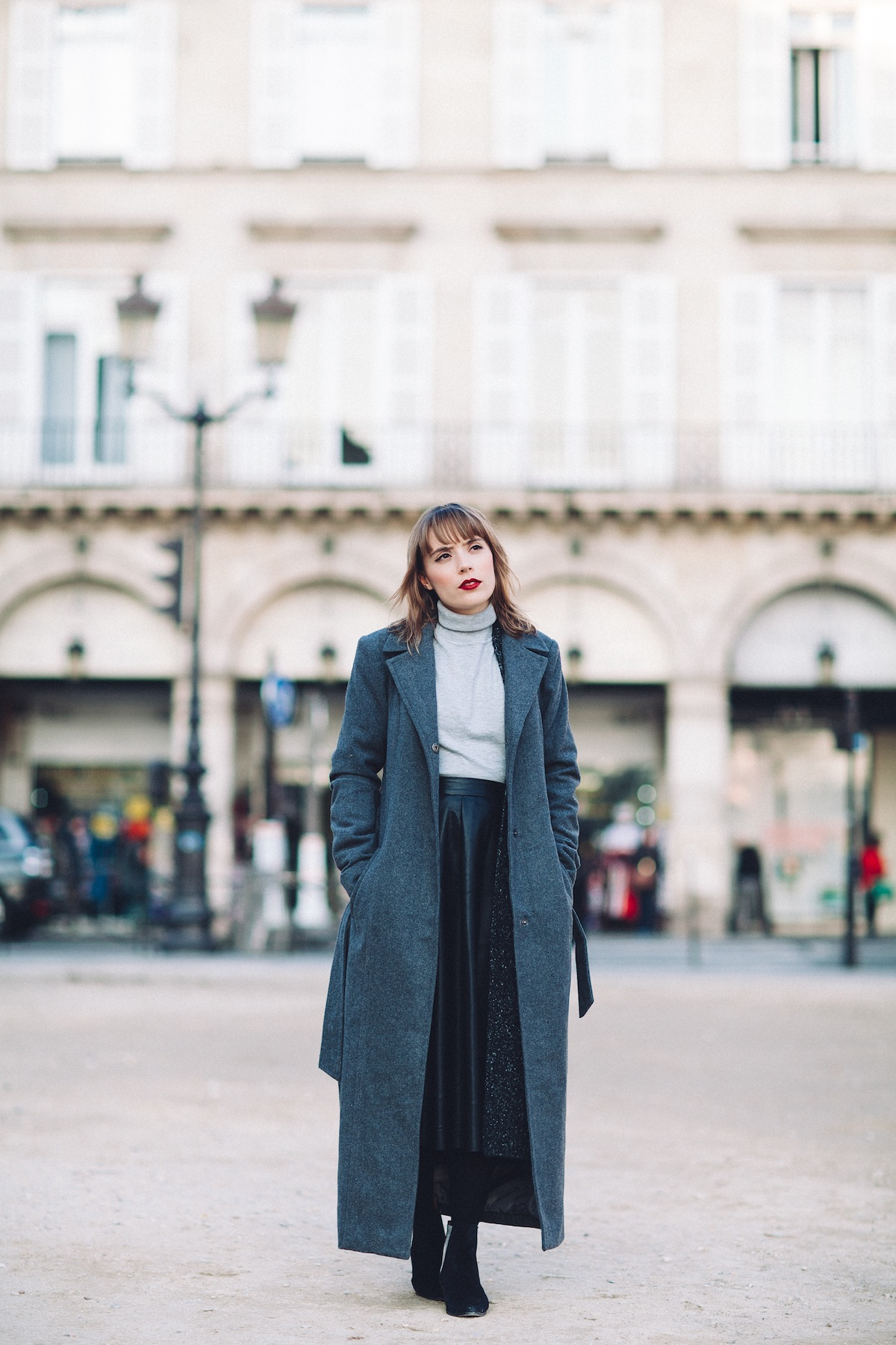 blog mode paris look gris et noir